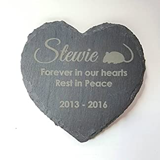 Personalised Engraved Heart Shape Natural Slate Pet Memorial Grave Marker Plaque 51JW2OlJmxL