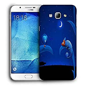 Snoogg Chameleon Alien Printed Protective Phone Back Case Cover For Samsung Galaxy A8