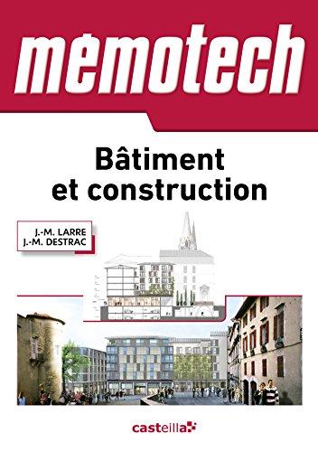 Memotech bâtiment et construction (2015) par J.-M. Larre