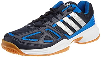 adidas Men's Cross Court Navy Blue and Silver Indoor Multisport Court Shoes - 7 UK