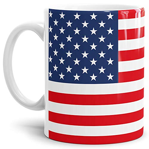 USA-Tasse Stars & Stripes Flagge - Kaffeetasse/Mug / Cup - Qualität Made in Germany