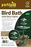 Zoozio Solar-Vogelbad mit Häuschen, Kupfer-Effekt, Grün