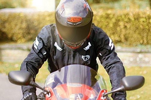 JET Motorradjacke Textil Wasserdicht Winddicht Mit Protektoren Multifunktional Schwarz - 5