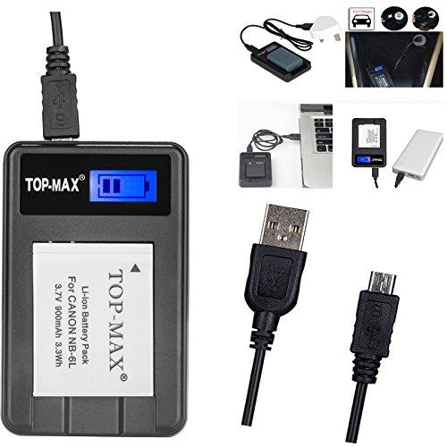 top-maxr-usb-nb-6l-nb6l-battery-charger-for-canon-powershot-sx170-is-sx240-hs-sx260-hs-sx270-hs-sx28