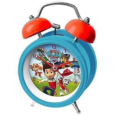 Kids Euroswan Reloj Despertador para Campanas de 9 cm Modelo Paw Patrol, Compuesto, 8x3x6 cm por Kids Euroswan