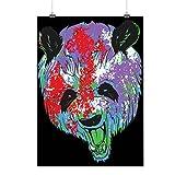 Panda Bête Furieux Animal Animal La vie Matte/Glacé Affiche A2 (60cm x 42cm) | Wellcoda