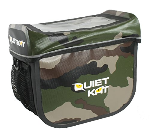 quietkat vorne Dry Griff Bar Tasche für 750W & 1000W fatkat eBikes–Camo (Fat Elektro-fahrrad Tire)