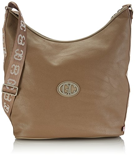 Poodlebag German Couture-bicolor-Hobo 3GC0115HOBOMT Damen Umhängetaschen 30x10x30 cm (B x H x T) Mehrfarbig (taupe/stone)