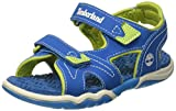 Timberland Adventure Seeker 2 Strap, Sandales Bout Ouvert Enfant, Bleu (Mykonos Blue), 33 EU