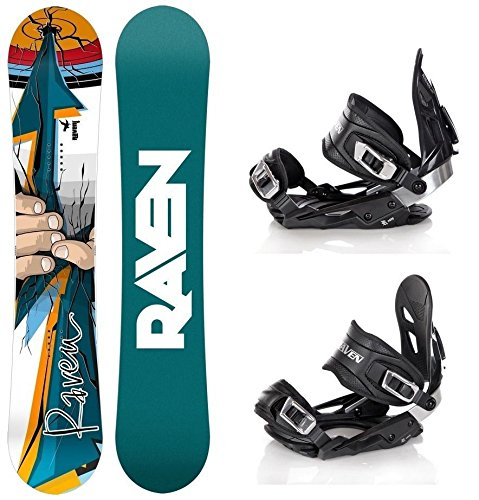 Snowboard Set: Snowboard Raven Dart + Bindung Raven s400 Black M/L