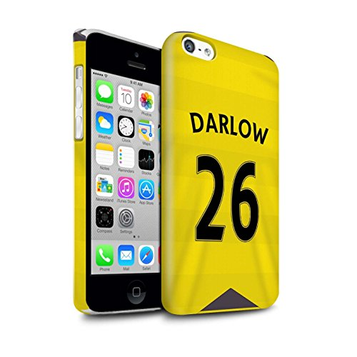 Offiziell Newcastle United FC Hülle / Glanz Snap-On Case für Apple iPhone 5C / Torwart Muster / NUFC Trikot Home 15/16 Kollektion Darlow