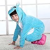 ABYED Adulte Unisexe Anime Animal Costume Cosplay Combinaison Pyjama Outfit Nuit Vêtements Onesie Fleece Halloween Costume Soirée de Déguisement,Hippopotame Chidren Taille 125 -pour Taille: 138-148cm
