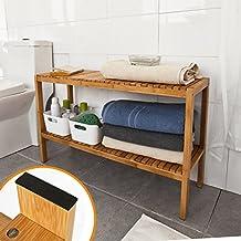 SoBuy Estantería para baño de bambú, Estanteria para nichos, Estantería para zapatos, FSR14-L-N. ES