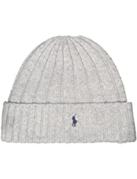 d3e5ae65531 Polo Ralph Lauren Unisex Lambswool Skullie Cap Light Gray Beanie Hat  Wool Nylon OS