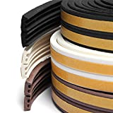 Sealplus 25 meter E type Small Gap 1 mm to 2.5 mm Self Adhesive Weather Strip Seal Door Window Fitting Brown