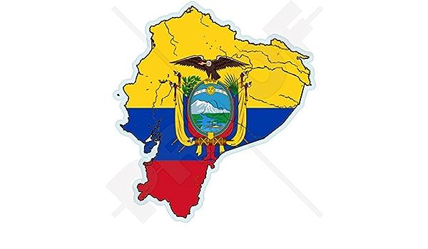 Ecuador Ecuadorianische Karte Flagge Südamerika 109mm Auto Motorrad Aufkleber Vinyl Sticker Garten