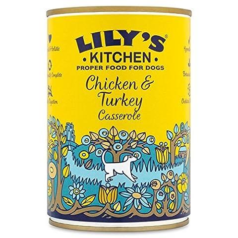 Cuisine bonne Dog Food Poulet et de Lily et la Turquie Casserole 400g