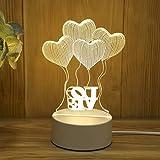 USB Nachtlicht kreative Karikatur Tischlampe Schlafzimmer Korridor Beleuchtung dekorative Geschenk Lampe Liebe Ballon USB Monochrom