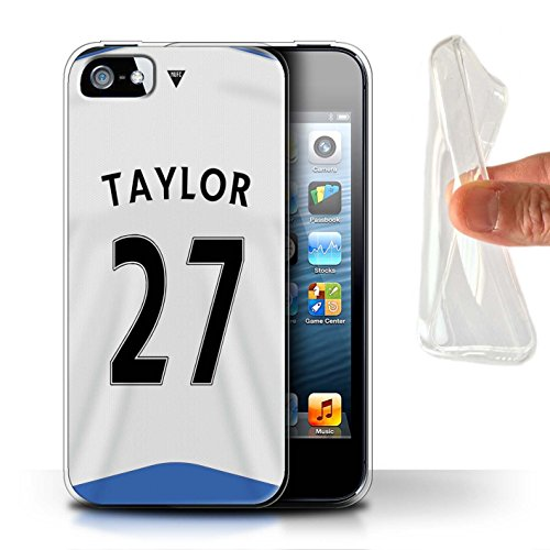 Offiziell Newcastle United FC Hülle / Gel TPU Case für Apple iPhone SE / Pack 29pcs Muster / NUFC Trikot Home 15/16 Kollektion Taylor