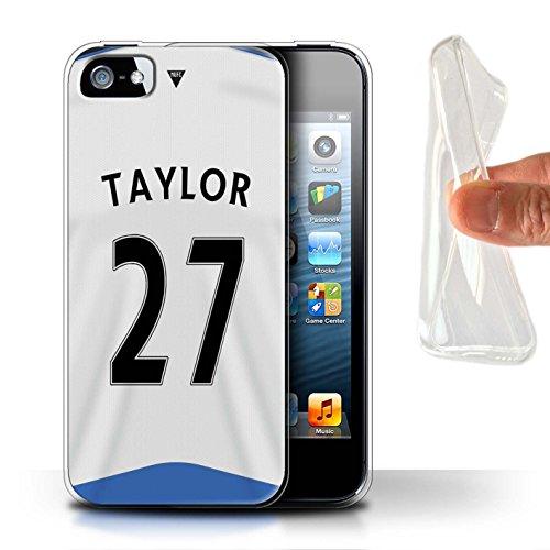 Offiziell Newcastle United FC Hülle / Gel TPU Case für Apple iPhone 5/5S / Pack 29pcs Muster / NUFC Trikot Home 15/16 Kollektion Taylor