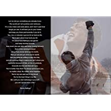 MOTIVATIONAL - ROCKY BALBOA 20 - BOXING - QUOTATIONS - A3 poster - A3 poster - Quote Sign Poster Print Picture, SPORTS, ROCKY by Salopian Sales