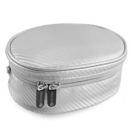 Geekria Soft Shell sacchetto per Beats SOLO2cuffie, SOLO3, studio, cuffie Wireless, solo, solo HD, Skullcandy Crusher, Bose QC35e più/borsa/custodia da viaggio (argento)