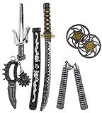 Katana KINDER NINJA Samurai Schwert Kostüm Säbel Dolch Messer XXL Set Zubehör
