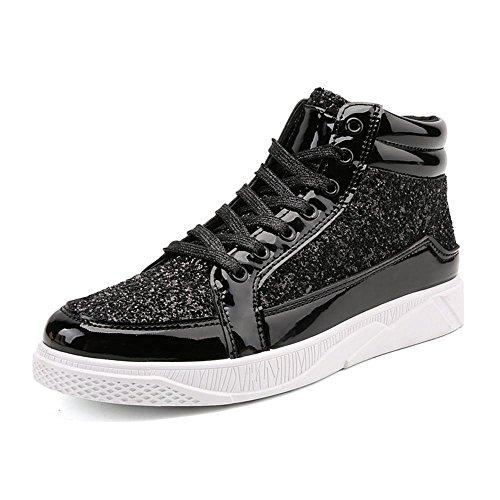 Scarpe da skateboard scarpe sportive Scarpe da corsa maschi impermeabile della Assorbimento degli urti traspirante Sport all'aria aperta Fatto a mano Usura antiscivolo Black