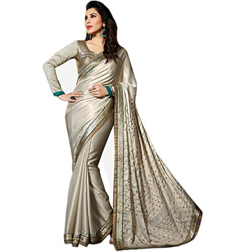 Latest Wize Collections Women's Satin Dress Material (FC495D2B6AA_Grey_Free Size)