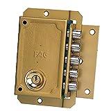 bricard 1855/cerradura de sobreponer vertical fouillot 2/entradas Cilindro 5/pasadores izquierda negro