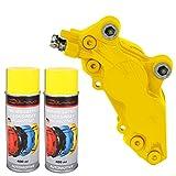 Bremssattellack Spray 1K Gelb 1 Komponenten Lack Lackspray 2x 400ml Neu