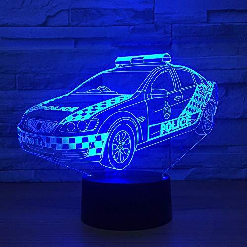 DAIODARUBA 3D Polizei Visuelle Führte Wohnkultur Gradienten Modellierung Schreibtischlampe Für Kid Touch-Taste Auto Nachtlicht Baby Schlafen USB Beleuchtung Geschenke