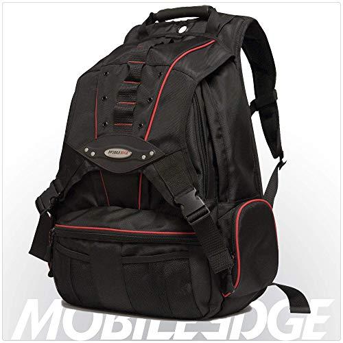 Herren-mobile Edge (Mobile Edge MEBPP7 Laptoprucksack mit rotem Rand, 43,9 cm (17,3 Zoll) großer Laptoprucksack, Cool-MeshTM Belüftete Rückseite, SafetyCellTM Schutz, Herren, Damen, Business, Student)