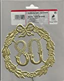 1 festliche Zahl 80 mit Draht 13cm in gold