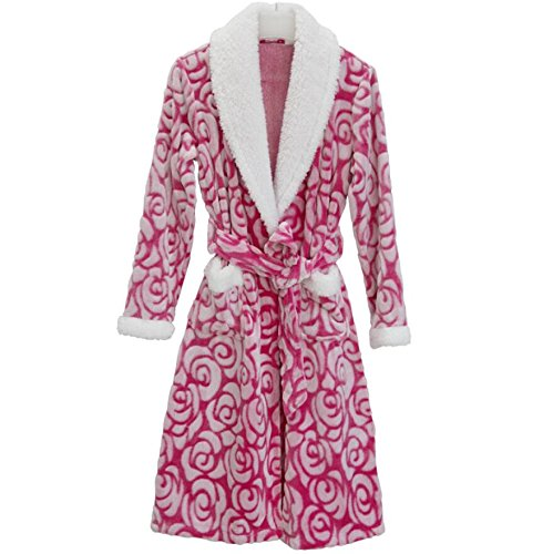 LJ&L Flanell paart atmungsaktive Kleider Coral Samt lose Bademantel dicker langer Punkt bequemer Zuhause Service Mode Pyjamas,Men,XXXL Ms