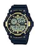 Casio Reloj Analógico-Digital para Hombre de Cuarzo con Correa en Resina AEQ-200W-9AVEF