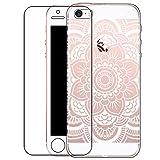 Bestsky Zeattain Coque iPhone se/5/5s [avec Verre Trempé], Coque Mandala Transparent...