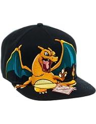 Pokemon Charizard Black Snapabck Casquette de Baseball