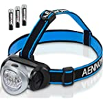 LED Head Torch Flashlight with Red Li...