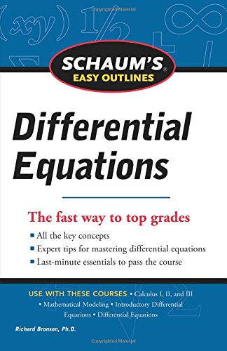Schaum's Easy Outline of Differential Equations, Revised Edition por Richard Bronson