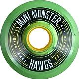 Hawgs Wheels Mini Monster Clear Green Skateboard Wheels - 70mm 80a (Set of 4) by Hawgs