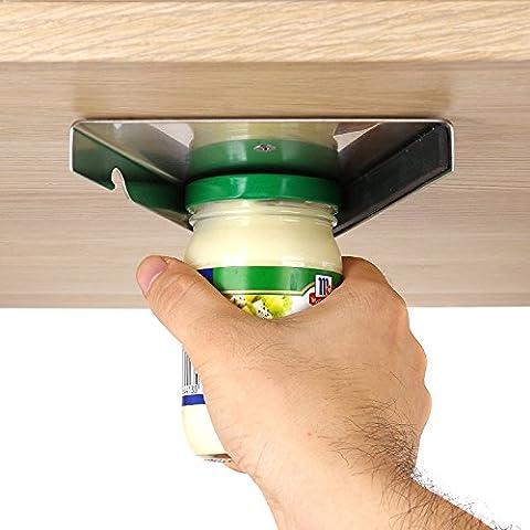 Ouvre-bocal sous armoire pour personnes âgées, handicapés, l'arthrite et faible mains, couvercles en acier inoxydable