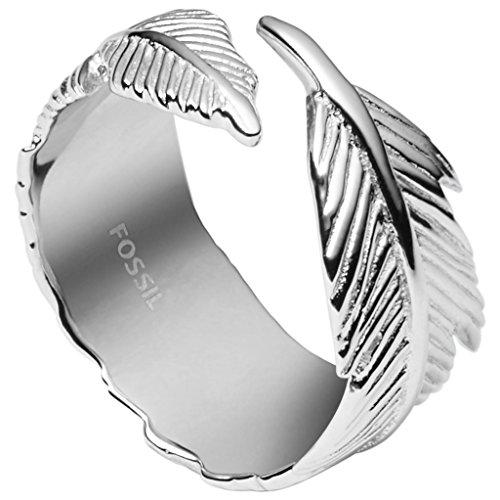 Fossil JFS00408 Damen Ring Feder Sterling-Silber 925 Silber 19,1 mm Größe 60