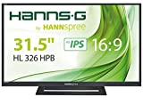 HannsG HL326HPBA 31.5-Inch Full HD HDMI HS-IPS Monitor - Black