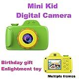 Tuwang Macchina Fotocamera per Bambini, Piccola Digitale Bambini Telecamera, Mini Fotocamera Digitale con Obiettivo Grandangolare e più Fotogrammi,