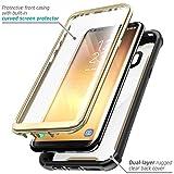Samsung Galaxy S8 Plus Hülle i-Blason Ares Handyhülle 360 Grad Case Robust Schutzhülle Transparent Cover mit eingebautem Displayschutz für Galaxy S8 + Plus, Gold