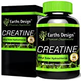 Creatine Ethyl Ester - 500mg - Build Muscle and Strength - Creatine Ethyl Ester Helps Improve Performance - Boost Energy - 90 Capsules by Earths Design