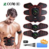 HONITURE Electrostimulateur Musculaire, EMS, EMS Appareil Abdominale, USB Charge...