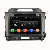 Android 8.0 Octa Core DVD de voiture Navigation GPS lecteur multimédia stéréo de voiture pour Kia Sportage 2010 - 2015 Autoradio Commande au volant avec WiFi Bluetooth carte SD gratuit