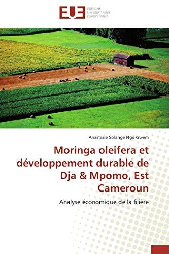 Moringa oleifera et développement durable de dja & mpomo, est cameroun